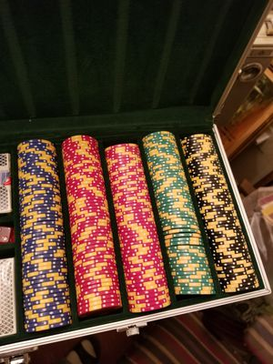 Striped dice poker chips for Sale in Forest Heights, MD