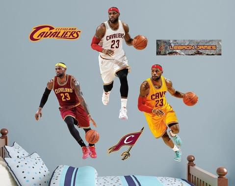 b14d2eb061f3 Lebron James Cleveland Cavaliers Fathead (Brand New) for Sale in Franklin
