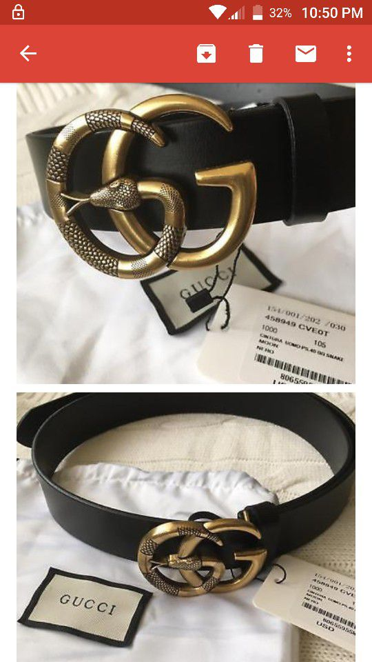 1fcf790ee76 Authentic Gucci belt size 32 36 snake gold for Sale in Liverpool