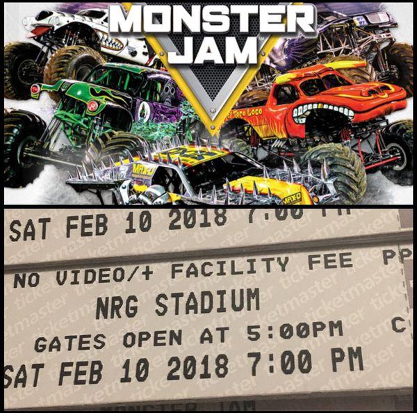Boletos De Monster Jam For Sale In Houston TX OfferUp - Monster car show houston tx