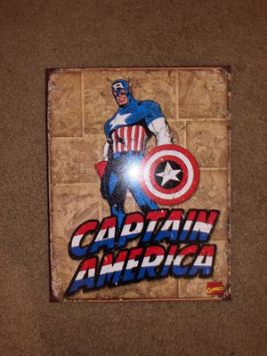 CAPTAIN AMERICA METAL SIGN for Sale in Washington, DC