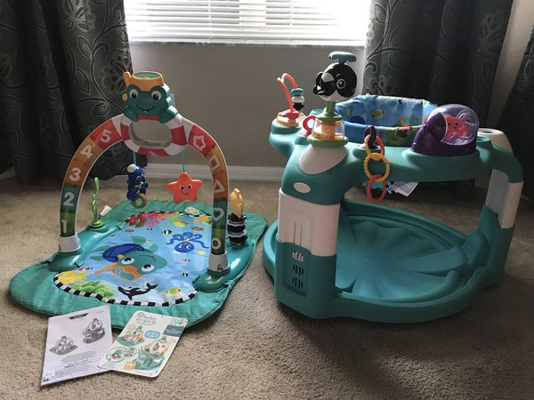 5b92678af Baby Einstein Lights and Sea activity gym and saucer - Like New for ...