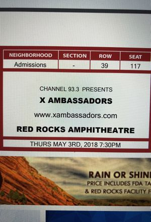X AMBASSADORS TICKETS FOR TONIGHT for Sale in Denver, CO