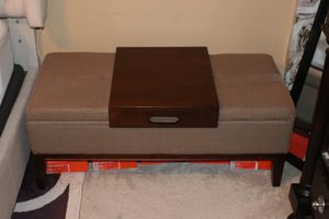 Brown Storage Ottoman for Sale in Bowie, MD
