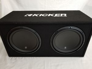 Photo Two 12 inch Subs in Box - JL Audio - Kicker Comp 2000W