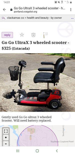 Photo Go Go ultraX 3 wheeled scooter