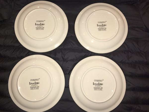 4 salad plates- Loon Lake Folkcraft stoneware by Scotty Z. for Sale ...