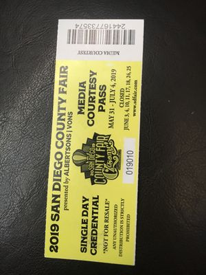 New and Used Tickets for Sale in Oceanside, CA - OfferUp