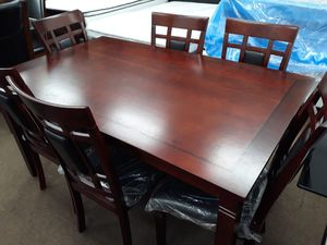Franny dark espresso 7-piece dining table set with 6 chairs for Sale in Washington, DC