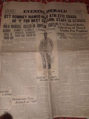 EVENING HERALD newspaper 1928 for Sale in Salt Lake City, UT