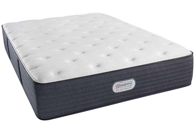 Display- Queen Size- Beautyrest Platinum Brookpine Luxury Firm with Box Spring