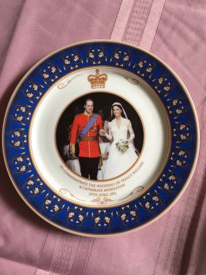 Prince William and Catherine Royal wedding China plate for Sale in Fairfax, VA