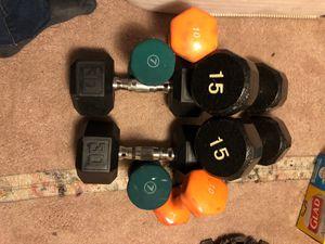 7 lb , 10 lb , 15 lb , 30 lb Dumbbell set for Sale in West McLean, VA