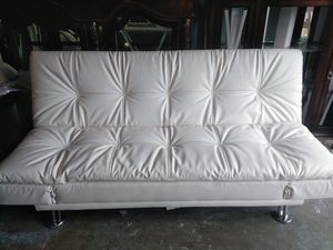 White Leather Futon For In Brooklyn Park Mn
