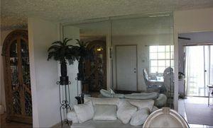 Sofa and glass 2 Glass Curio Cabinets for Sale in North Miami Beach, FL