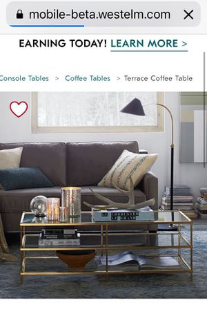 West Elm Terrace Coffee Table And Side Table For Sale In La Habra