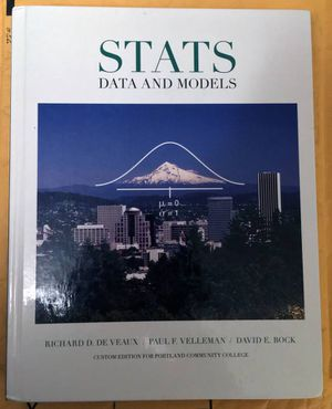 Stats: Data and Models (PCC Custom Edition) for Sale in Portland, OR