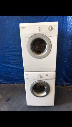 Whirlpool 24 inch stackable front load washer and dryer Thumbnail