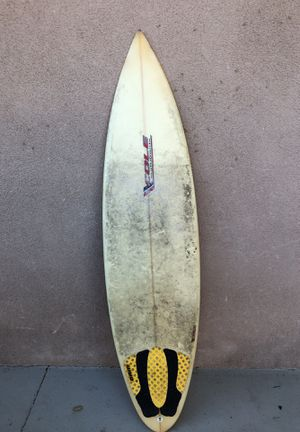 Cole surfboard with fins for Sale in Fullerton, CA