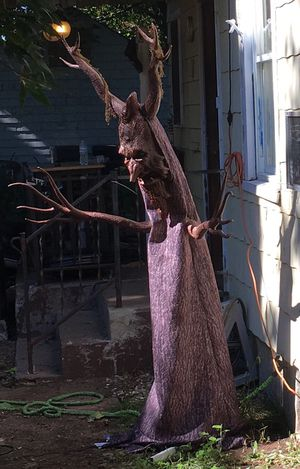 6ft animated halloween talking spooky tree deadly roots spirit halloween prop for sale in