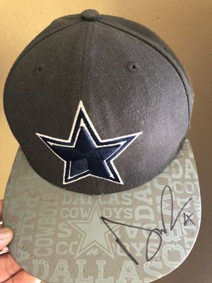 Dallas cowboys fitted hat 7 1 8 reflective signed by Dak Prescott for Sale  in 295ec1d4a
