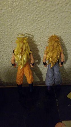 Ssj3 goku and ssj3 gogeta action figures Thumbnail