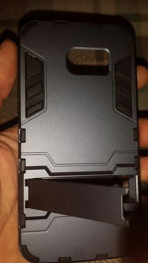 Galaxy s6 edge case, gun metal and black w\stand for Sale in Murfreesboro, TN
