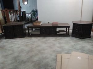 Photo Antique tables. Coffee table.