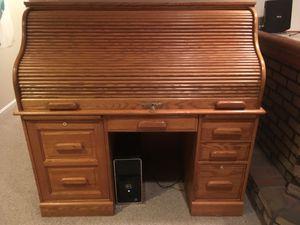 Roll Top Desk, Oak, Winners Only for Sale in Oakton, VA