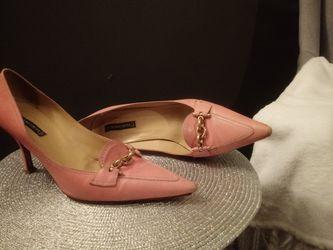 "Pink 3""Claudia Cluti shoes size 9M Thumbnail"