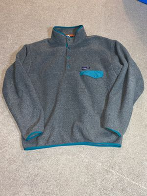 Photo Patagonia snap T men's large grey sweater