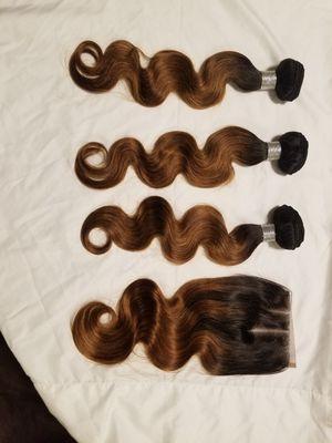 "Brazilian human hair Bodywave 18"" 3bundles with 16closure for Sale in Washington, DC"