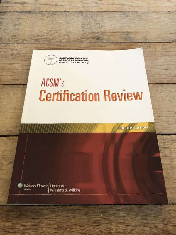 Acsms Certification Review Fourth Edition For Sale In Ventura Ca
