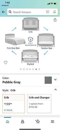 Graco 4 In 1 Convertible Crib Thumbnail