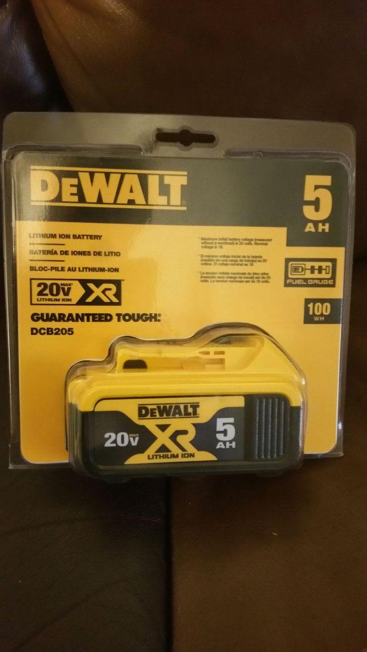 New dewalt 20v 20 volt max xr battery