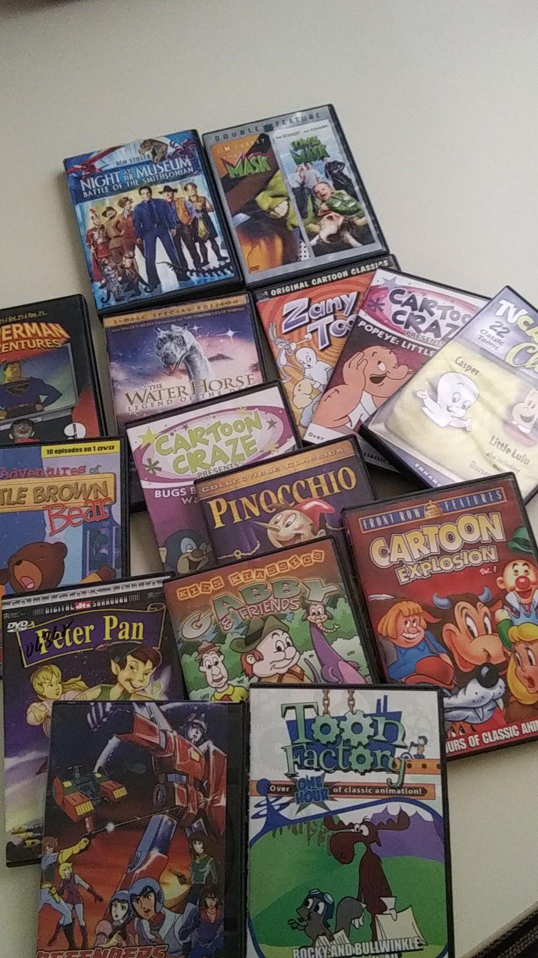 15 Children's assorted DVD movies