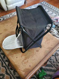 Folding Stool Cooler With Handles  Thumbnail