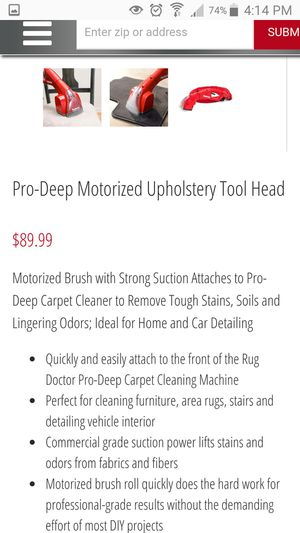 RUG DOCTOR PRO deep cleaning attachment