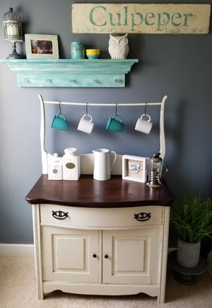 Antique Upcycled Wash Stand Coffee Bar for Sale in Manassas, VA