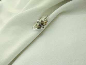 Black hills silver / mystic fire ring Thumbnail