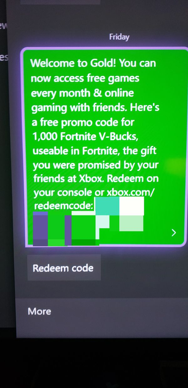 Fortnite V Bucks Code