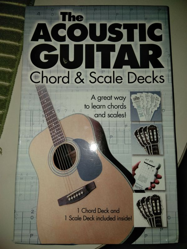 Acoustic guitar chord & scale decks (Musical Instruments) in ...