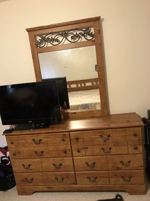 Ashley double bed with matching dresser combination for Sale in Manassas, VA