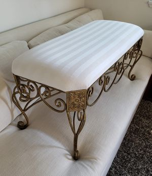 Vintage gold scrollwork French Countryside Elegant Sofa Bed Bench for Sale in Renton, WA
