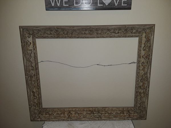 Large shabby chic empty frame for Sale in San Jacinto, CA - OfferUp