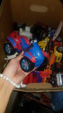 Box of toy cars Thumbnail