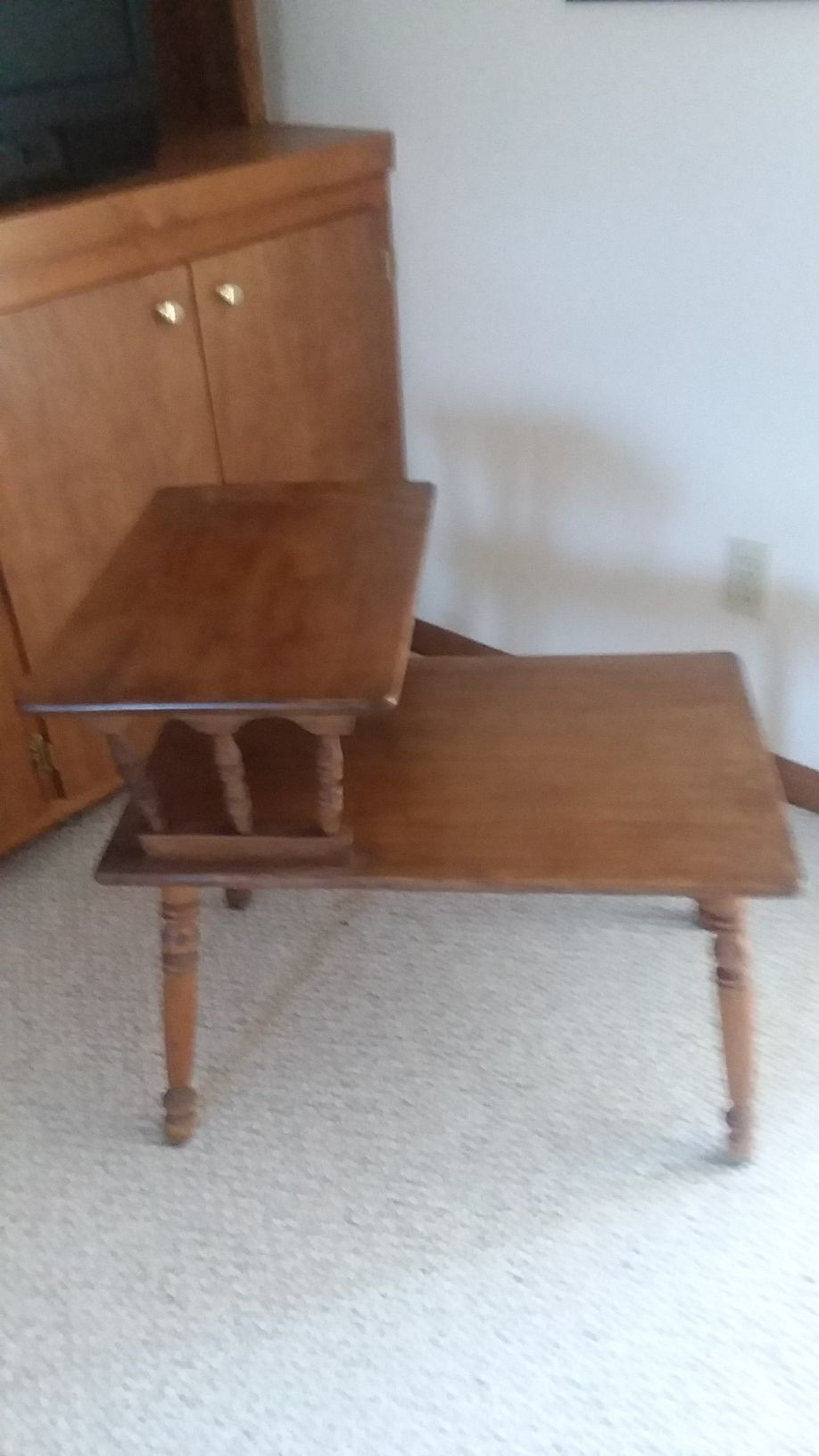 End table. 60's early american