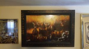 """41"""" x 28"""" Beautiful Framed Deer Painting/Picture for Sale in St. Louis, MO"""
