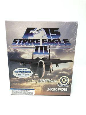 Brand new sealed MS-Dos PC game 1992 F15 Strike Eagle III Microprose for Sale in Gaithersburg, MD