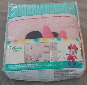 3 Piece Minnie Mouse Crib Set for Sale in Ruskin, FL